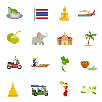 Zestaw ikon tajlandii