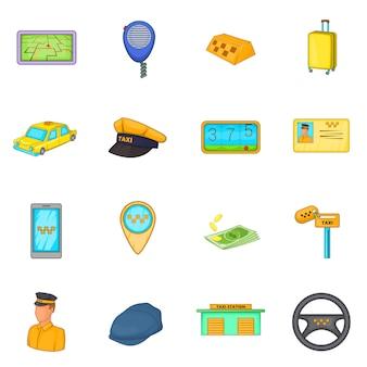 Zestaw ikon taksówek