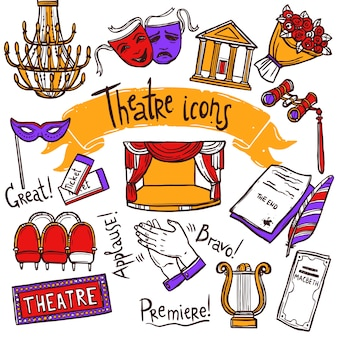 Zestaw ikon teatru