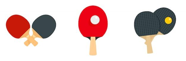 Zestaw ikon tenisa stołowego