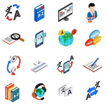 Zestaw ikon tłumacza