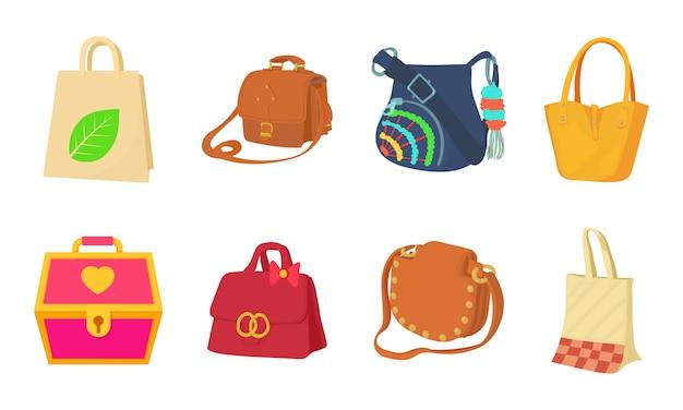 Zestaw ikon torby