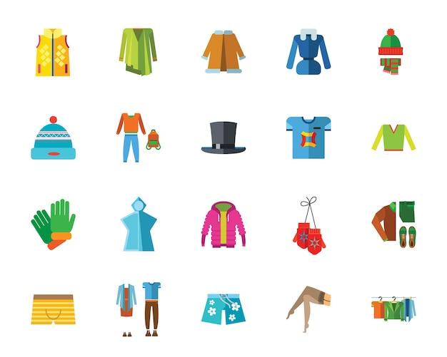 Zestaw ikon ubrania