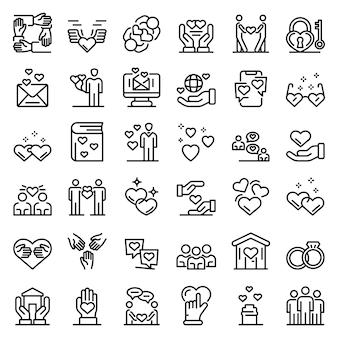 Zestaw ikon uczucia