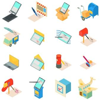 Zestaw ikon usługi pocztowej