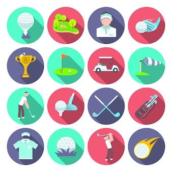 Zestaw ikon w golfa