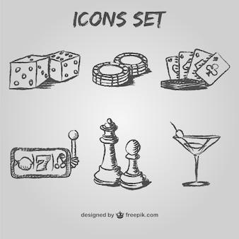 Zestaw ikon w kasynie