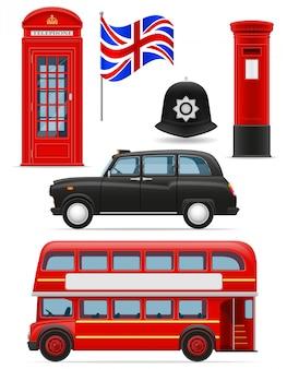 Zestaw ikon w londynie.