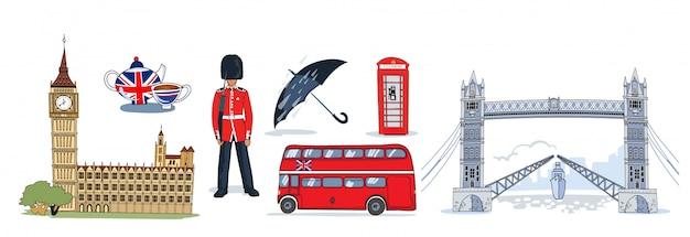 Zestaw ikon w londynie
