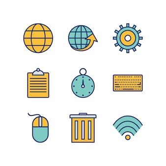 Zestaw ikon w sieci web