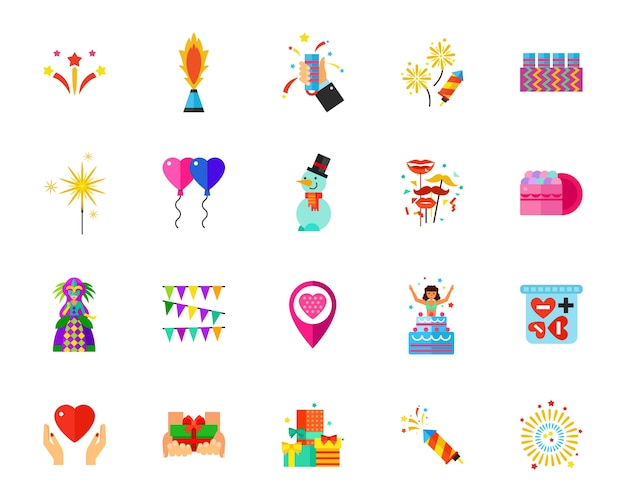 Zestaw ikon wakacje
