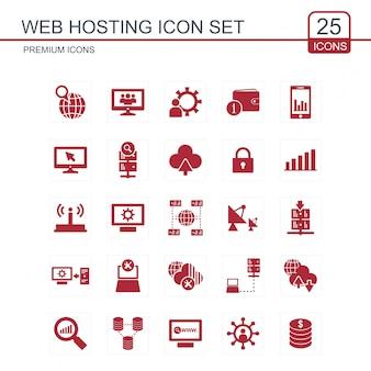 Zestaw ikon web hosting