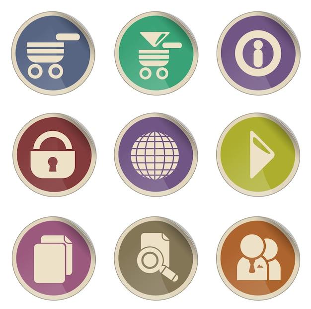 Zestaw ikon wektor witryny sieci web