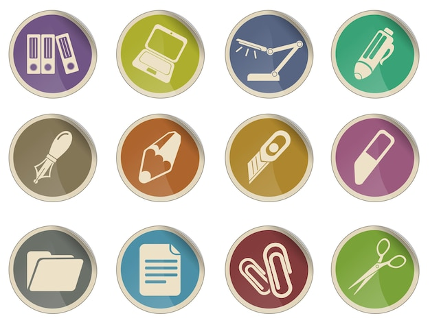 Zestaw ikon wektorowych biura