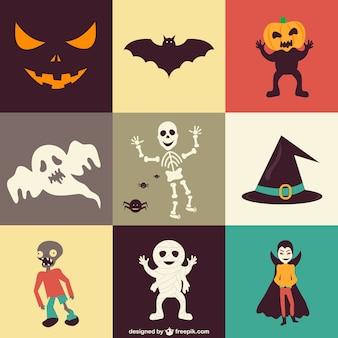 Zestaw ikon wektorowych halloween