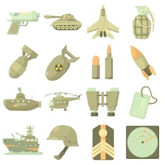 Zestaw ikon wojskowych