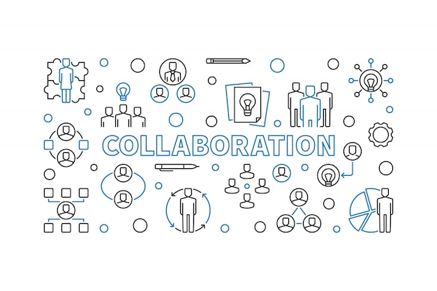 Zestaw ikon współpracy