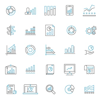Zestaw ikon wykresu i wykresu