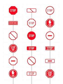 Zestaw ikon zakazu