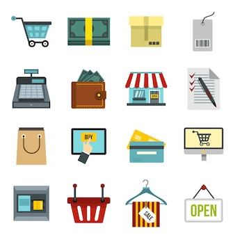 Zestaw ikon zakupy