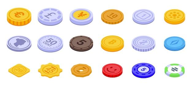 Zestaw ikon żetonów
