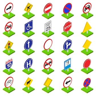 Zestaw ikon znak drogowy