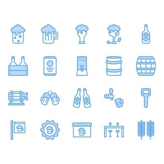 Zestaw ikon związanych z piwem i alkoholem
