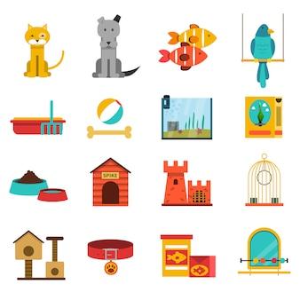 Zestaw ikon zwierząt domowych
