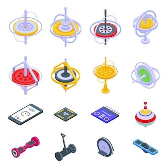 Zestaw ikon żyroskopu