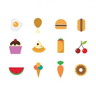 Zestaw ikon żywność