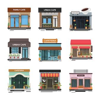 Zestaw ilustracji cafe