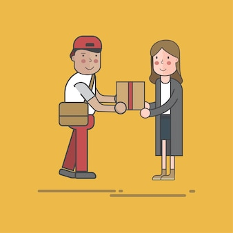 Zestaw ilustracji dostawy pocztowej