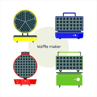 Zestaw ilustracji kuchnia gofry