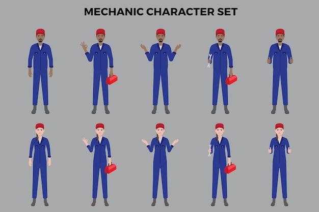 Zestaw ilustracji mechanika