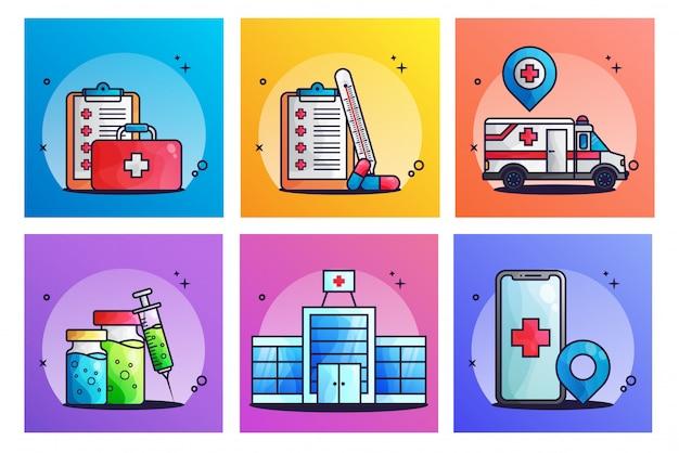 Zestaw ilustracji medycznych
