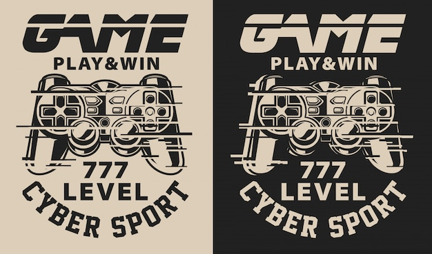 Zestaw ilustracji na temat gier