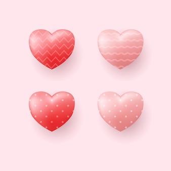 Zestaw ilustracji serca.