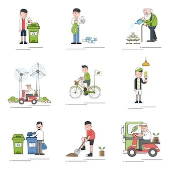 Zestaw ilustracji środowiska wektor