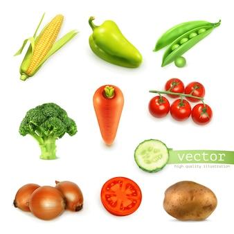 Zestaw ilustracji warzyw