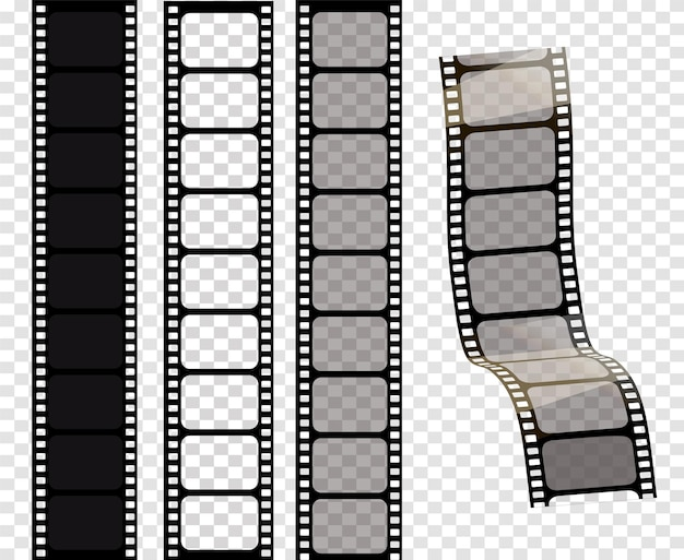Zestaw ilustracji wektorowych taśmy filmowe ilustracji wektorowych eps