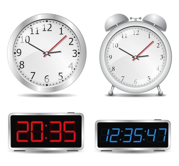 Zestaw ilustracji zegara