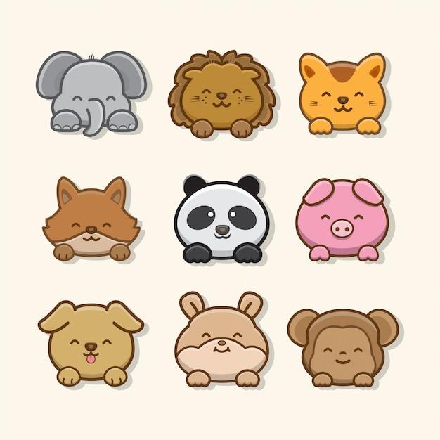 Zestaw ilustracji zwierząt