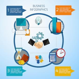 Zestaw infografiki biznesowych