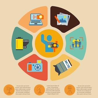 Zestaw infografiki fotografii
