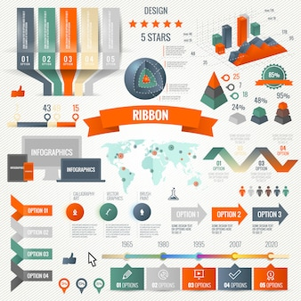 Zestaw infografiki z opcjami
