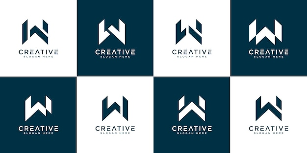 Zestaw inicjałów litera w streszczenie logo wektor wzór