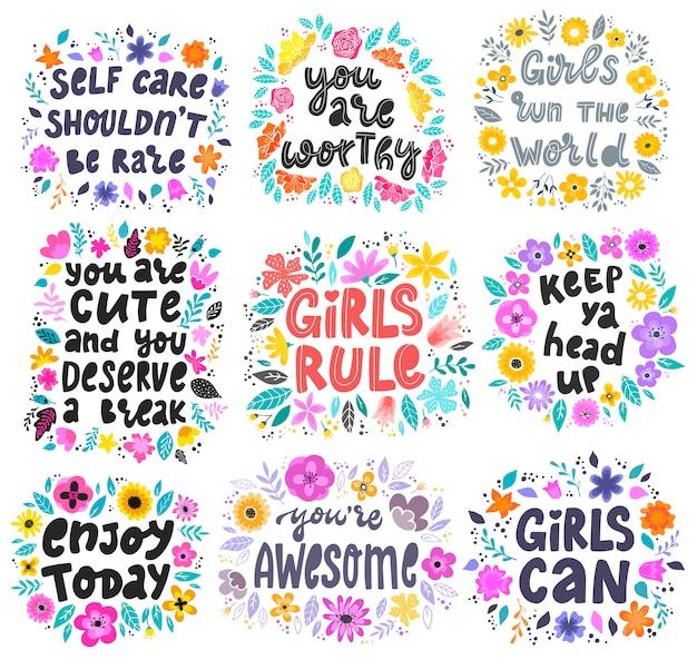 Zestaw inspirujących cytatów feministycznych