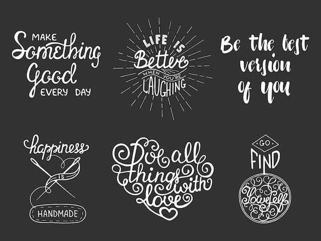 Zestaw inspirujących i motywujących napisów