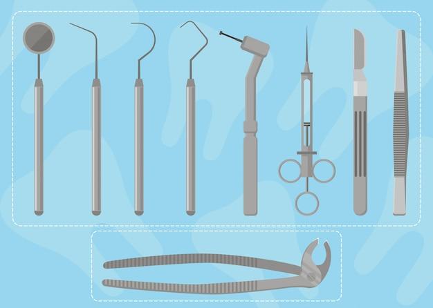 Zestaw Instrumentów Medycznych Premium Wektorów