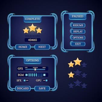 Zestaw interfejsu użytkownika do gier rpg fantasy